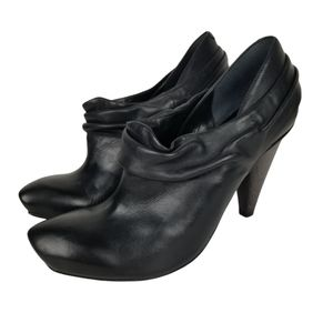 Bronx Anette Black Leather Slouchy Ankle Boot